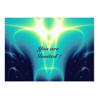 "LIGHT WAVES ,Blue,Purple,White 5"" X 7"" Invitation Card"