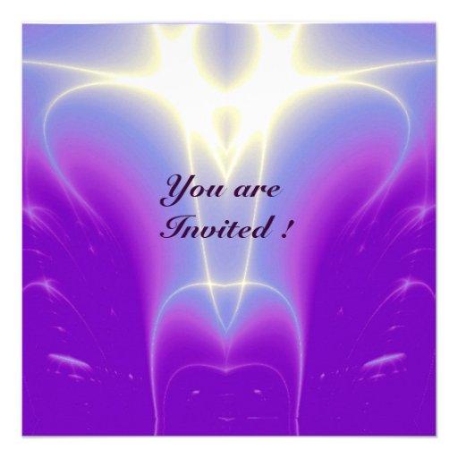 LIGHT WAVES ,Pink,Fuchsia,,Purple,White Personalized Invite