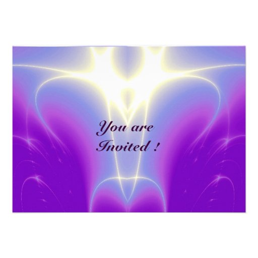 LIGHT WAVES ,Pink,Purple,White Custom Invites