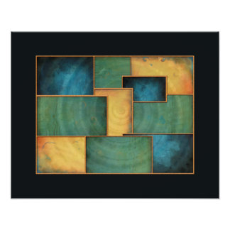Light Well Abstract Color Block Print