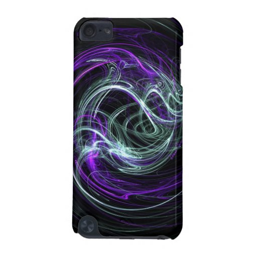 Light Within - Abstract Violet & Indigo Swirls iPod Touch 5G Cover