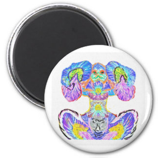 Light Within : Power Meditation by Naveen Joshi 2 Inch Round Magnet