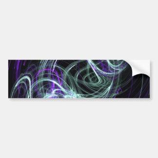 Light Within - Violet & Indigo Swirls Bumper Sticker