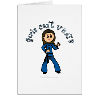 Light Womens Kung Fu Greeting Card