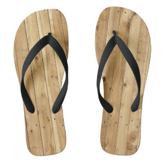 LIGHT WOOD FENCE FLIP FLOPS
