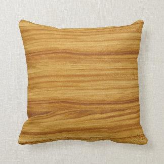Light Wood Grain Throw Pillow