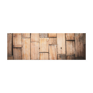 Light Wooden Panel. Canvas Print