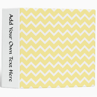 Light Yellow and White Zigzags. 3 Ring Binders