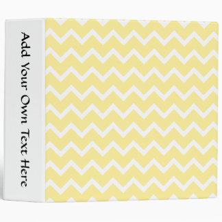Light Yellow and White Zigzags. Binder