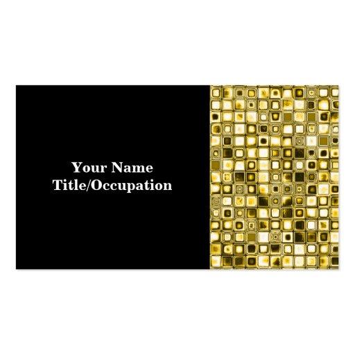 Light Yellow 'Popcorn' Textured Grid Pattern Business Card