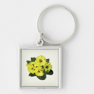 Light Yellow Primroses Keychain