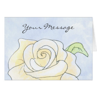 Light Yellow Rose. Card