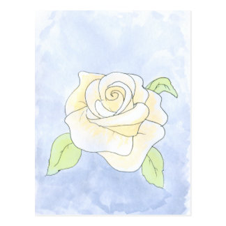 Light Yellow Rose. Postcard
