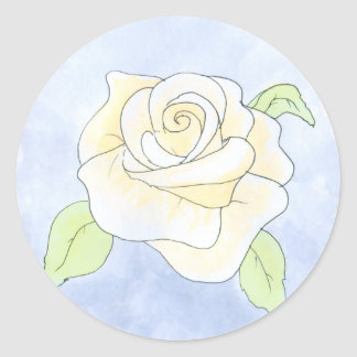 Light Yellow Rose. Round Sticker
