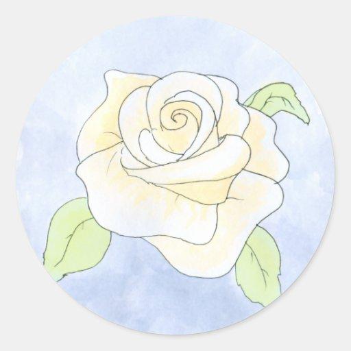 Light Yellow Rose. Sticker