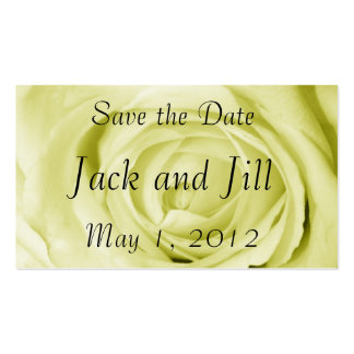 Light Yellow Save the Date Pack Of Standard Business Cards
