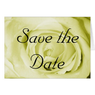Light Yellow Save the Date Greeting Card