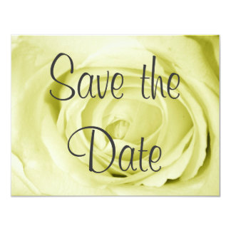 """Light Yellow Save the Date 4.25"""" X 5.5"""" Invitation Card"""