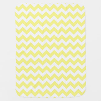 Light Yellow White Chevron Zig-Zag Pattern Baby Blanket