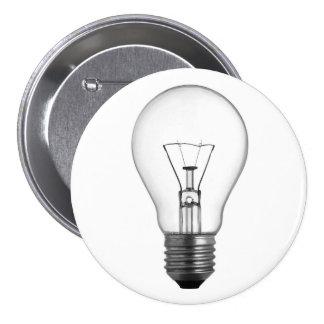 Lightbulb 3 Inch Round Button