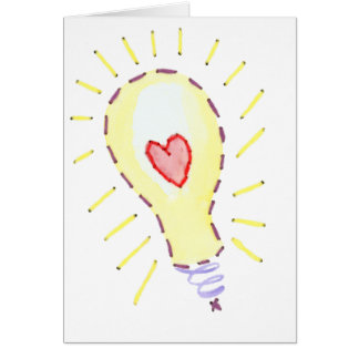 Lightbulb Bright Idea - Heart Card