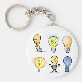 Lightbulb Characters Keychain