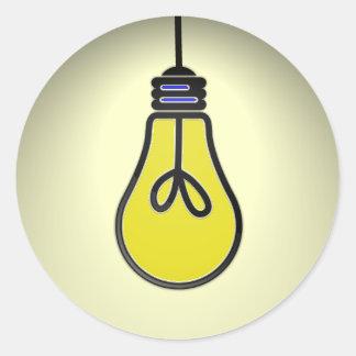 Lightbulb Idea Design Classic Round Sticker