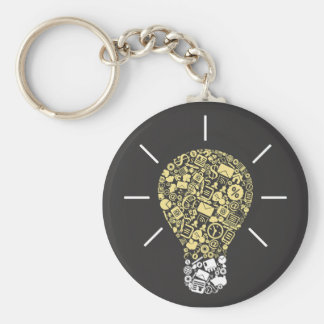 Lightbulb Idea Keychain