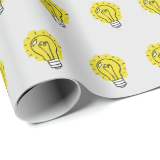 Lightbulb Idea Pattern Wrapping Paper