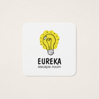 Lightbulb idea square business card