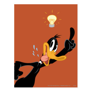 Lightbulb over DAFFY DUCK™'s Head Postcard
