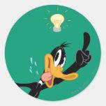 Lightbulb over Daffy Duck's Head Sticker