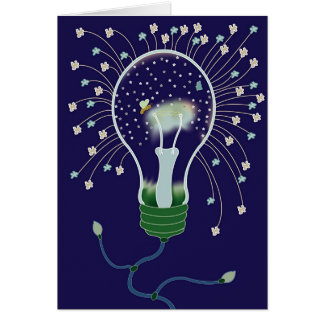 LightBulb Stars Card