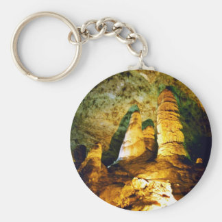 Lighted Interior Of Carlsbad Caverns National Park Keychain