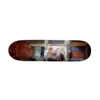 Lighted shop at night custom skate board