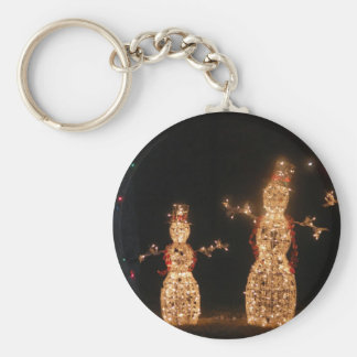 Lighted Snowmen Keychain
