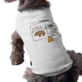 Lighten (color) doggie t shirt
