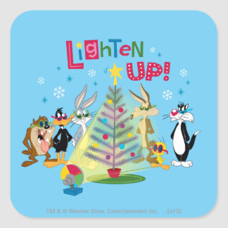 Lighten Up Square Sticker