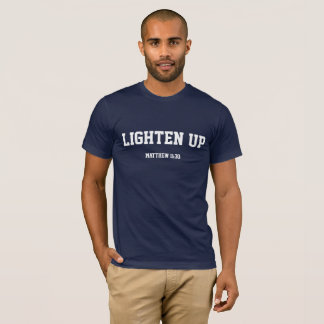 Lighten up unisex navy T-Shirt