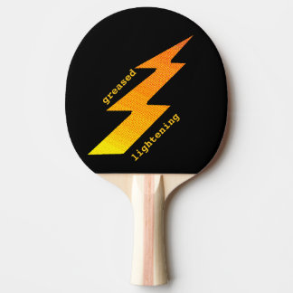 Lightening Bolt Ping Pong Paddle
