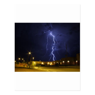Lightening strike postcard