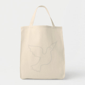 Lighter Blue Peace Dove Grocery Tote Bag