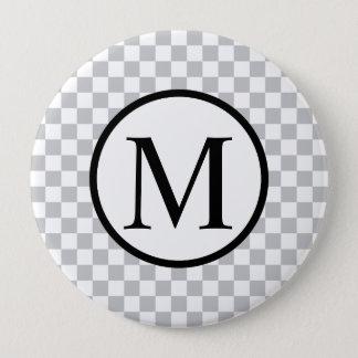 LightGreyCheckerboard 4 Inch Round Button