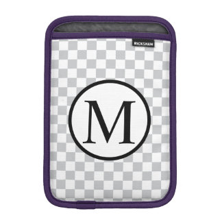LightGreyCheckerboard iPad Mini Sleeve