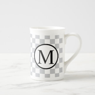 LightGreyCheckerboard Tea Cup