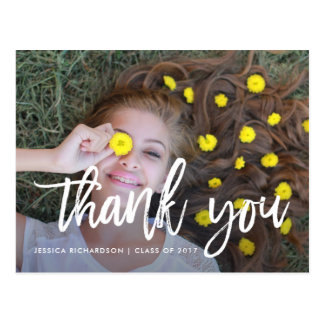 Lighthearted Thanks | Graduation Photo Thank You Postcard