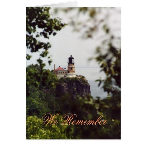 Lighthouse1, We Remember Greeting Card