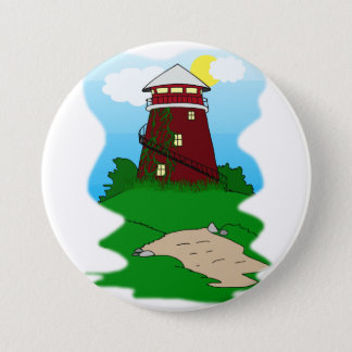 Lighthouse 3 Inch Round Button