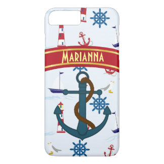 Lighthouse Anchor custom nautical Cell phone case