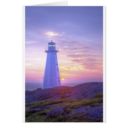 Lighthouse and a Sunset Card